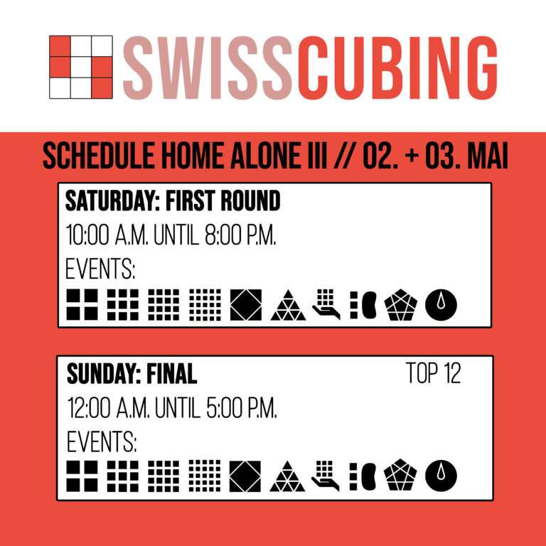 Swisscubing Home Alone III 2020 Schedule